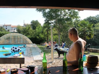 Kroatien am Pool
